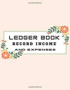 ledger book record income and expenses: Large Simple Accounting Ledger Book for Bookkeeping and Small Business The Simplified Beginner's Guide to ... For Students Income Expense Account Notebook
