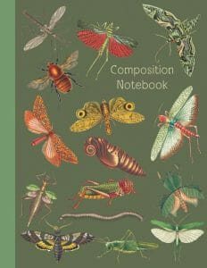 Nature insect Composition Notebook : Nature Study Notebook Journal 8.5x11-inch 120 pages